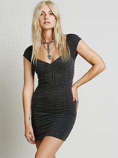 Free People Eyelet Bodycon Dress at Free People Clothing Boutique