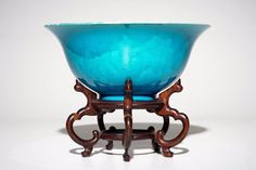 A Chinese monochrome turquoise bowl with incised design of horses, Kangxi mark, C Monochrome, Chinese Embroidery, Chinese Ceramics, Turquoise, Chinese Painting, Types Of Art, Decoration, Horns, White Ceramics