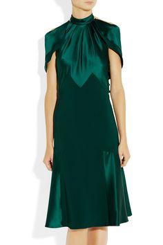Prabal Gurung | vestido con paneles de seda crepé satén y seda | NET-A-PORTER.COM