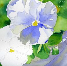 I have really enjoyed photographing and painting my pansies this year. This painting is one of the recent projects I've been teaching in my...