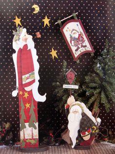 Se trata de un tole y pintura decorativa sólo libro.  No es un kit o proyecto completado.  El libro es de 1996 por Rebecca Carter.  El libro tiene 30 páginas.  Tiene algún desgaste del estante pero en general está en buen estado.  Tabla de contenidos: Instrucciones generales Letrero feliz Navidad Muñeco de nieve patchwork Signo de manopla Guirnalda de Santa Cartel de Navidad de cabina Santa de patchwork Tradicional trineo de Santa Santa con la luna Ayuda querido Santa Bosque Santa trineo…