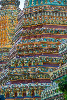 Wat Po decoration, Bangkok.