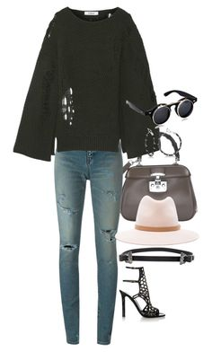 """""""Untitled #6788"""" by ashley-r0se-xo ❤ liked on Polyvore featuring Gucci, Yves Saint Laurent, Chalayan, Allurez, rag & bone and Tamara Mellon"""
