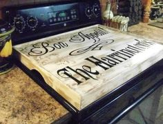 Noodle Board Stove Diy - Best Of Noodle Board Stove Diy, Primitive Kitchen Tray Black Sink Cover by Rusticprairiecottage Wooden Stove Top Covers, Stove Covers, Types Of Plumbing, Stove Board, Sink Cover, Noodle Board, Kitchen Stove, Kitchen Tray, Wood Crafts