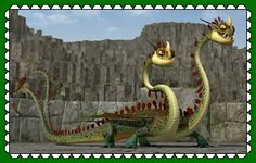 HTTYD Hideous Zippleback/Barf And Belch Fan Stamp by MorkelebTheDragon.deviantart.com on @DeviantArt