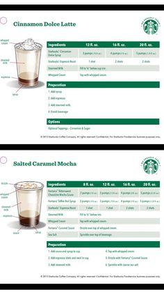 Starbucks Barista Training, Starbucks Jobs, Working At Starbucks, Starbucks Recipes, Starbucks Drinks, Starbucks Coffee, Keurig Recipes, Nespresso Recipes, Coffee Drink Recipes