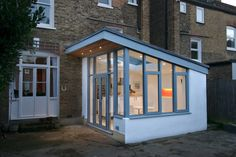 This is much like the study extension VCDesign did in Westbourne Park- except we used timber to blend with facebrickwork