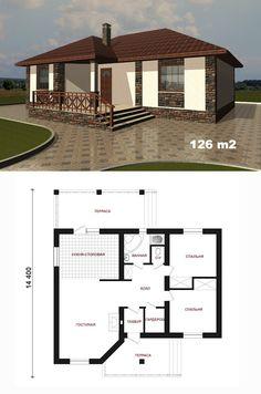 4 Bedroom House Designs, Bungalow House Design, House Front Design, Small House Design, Modern House Design, My House Plans, Modern House Plans, Small House Plans, Modern Architecture House
