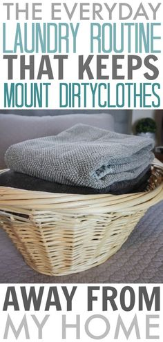 The laundry routine that helps me always stay on top of my laundry.