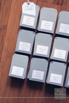 Mariage en rose gris et argent d co de table pink - Chemin de table gris perle ...