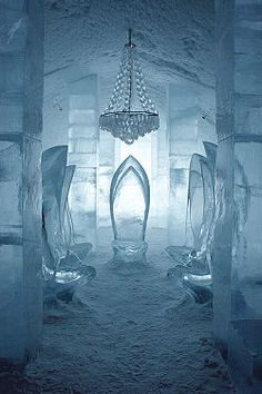 The Icehotel in Jukkasjärvi, Sweden. Most of us like to head somewhere warm given we live in a colder Canadian climate; however, this is cool  if you'll pardon the pun!