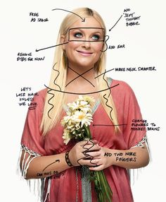 """Amy Poehler makes her own Photoshop suggestions - """"add more fingers."""""""