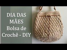 Crochet Handbags, Crochet Purses, Crochet Bags, Diy Crafts Knitting, Free Knitting, Crochet Accessories, Bag Making, Diy Bags, Straw Bag