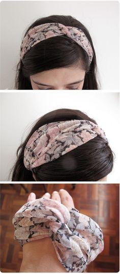 headbands and headwraps Diy Headband, Twist Headband, Headbands, Scarf Hairstyles, Pretty Hairstyles, Diy Hair Accessories, Bandeau, Hair Bows, Hair Tie