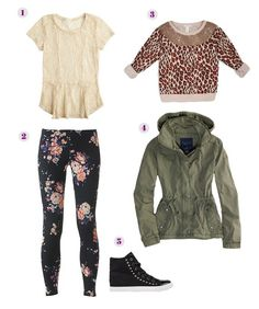 Go Crazy: Tween Girls' Spring Fashion - mom.me - May 25 2019 at Cute Teen Outfits, Teenage Girl Outfits, Girls Summer Outfits, Outfits For Teens, Summer Clothes, Fall Clothes, Spring Outfits, Preteen Girls Fashion, Tween Girls
