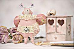 Жуки в стиле Тильда в розовом, парочка (конкурсная работа) - интерьерная игрушка