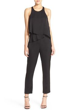Free shipping and returns on Ali & Jay Tiered Front Racerback Chiffon Jumpsuit at Nordstrom.com. Ruffled tiers are popped over the front to create a chic two-piece look for a soft chiffon jumpsuit with all-in-one ease. The ankle-length style cuts away to a racerback to show off shoulders.