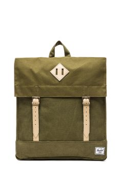 Herschel Supply Co. Canvas Collection Survey Backpack in Washed Army  Army