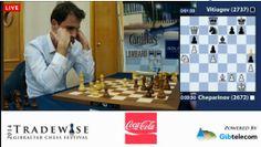Suivez le tournoi d'échecs de Gibraltar en direct avec les départages entre Vassily Ivanchuk, Nikita Vitiugov et Ivan Cheparinov pour les 20.000 Livres du premier prix - http://lnkd.in/dFfd8-3 #chess #scacchi #echecs #ajedrez #schach