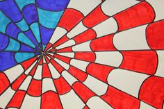 Kim & Karen: 2 Soul Sisters: Red, White and Blue Op Art