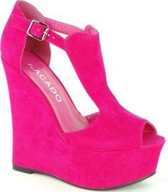 Pink wedge heel