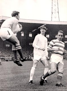 August New signing Allan Clarke marshaled by Celtic duo; goalkeeper John Fallon and defender John Clark as the two teams played out draw at Parkhead. Celtic Pride, Celtic Fc, Jim Craig, Bristol Rovers, John Clark, Leeds United, Professional Football, Goalkeeper, New Sign