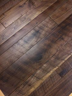 Check out our reclaimed walnut flooring boards, isn't it gorgeous?