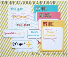 Vacation Journalling Cards Free Printable