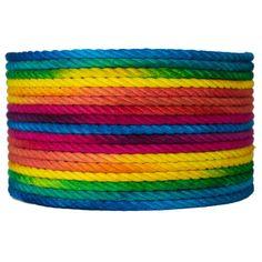 Underwater Color Rainbow Hemp Bondage Rope Full by deGiottoRope