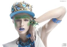"""Chroma"" Beauty Editorial in Factice Magazine, Photography by Lindsay Adler"