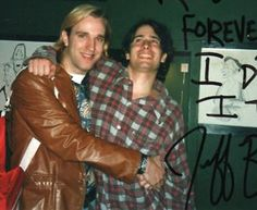 Jeff Buckley and friend.
