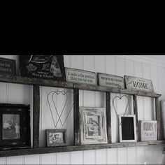 The old ladder is being used as a shelf! Love the country home style (:
