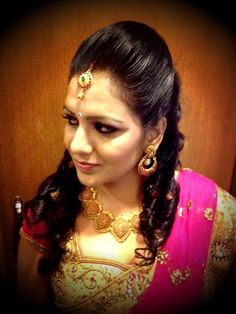 south indian bridal reception hairstyle