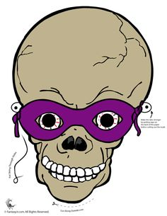 Fantasie Jr. | Skeleton Druck-Halloween-Maske