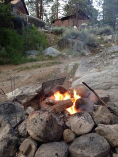 Campfire at Mono Hot Springs