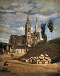 The Cathedral of Chartres, Jean-Baptiste-Camille Corot, 1830 Happy birthday to Jean-Baptiste-Camille Corot, born on this date in 1796.