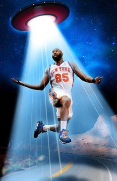 NBA's Baron Davis: I was 'abducted by aliens' in desert two weeks ago ~ The former New York Knicks player told the hosts of 'The Champs Podcast' that he made a visit to a flying saucer while driving through the desert from Las Vegas to L.A.