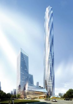 Greenland Tower Chengdu, a 1,535-foot crystalline sculpture slowly sprouting up in the Chinese city of Chengdu.