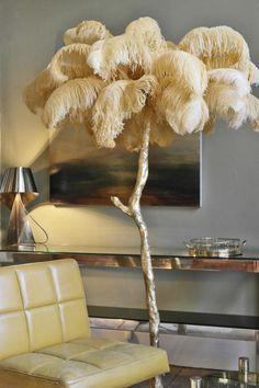 It's a lamp made of ostrich rather than swan feather of course... but love it!