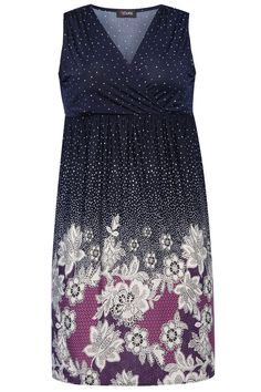 fb8ccc6e44 Navy   Purple Dot Dress Curvy Girl Fashion
