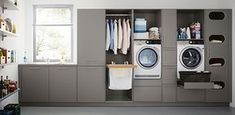Who says utility rooms have to be boring. When attention to detail is your thing call taylorscot always thinking outside the box!… Like the built in storage for galley style laundry room with window Utility Room Storage, Laundry Room Storage, Built In Storage, Laundry Rooms, Storage Shelves, Utility Room Ideas, Laundry Baskets, Utility Sink, Storage Room
