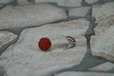 Ohrstecker - Ohrstecker Stern Rot - ein Designerstück von MarLinas-Blickfaenge bei DaWanda