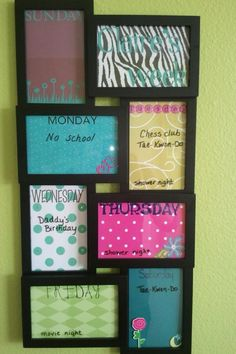 Photo frame for dry erase board