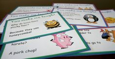 Printable Lunchbox notes – 20 printable kid-friendly joke cards to put in your kids lunch boxes!