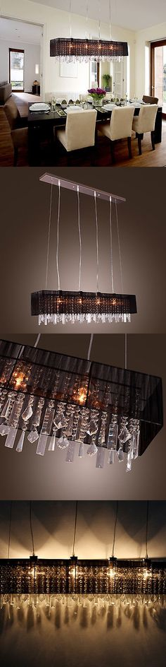 Chandeliers and Ceiling Fixtures 117503: Elegant Crystal Chandelier Modern Ceiling Light Lamp Pendant Lighting Fixture -> BUY IT NOW ONLY: $65.33 on eBay!