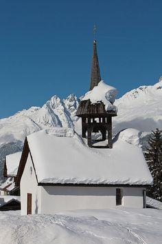 """Obersaxen (Kanton Graubünden) - Chapel / Kapelle / Chapelle """"St. Georg im Meierhof"""""""