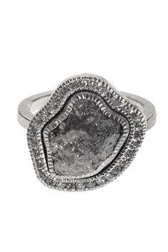 Todd Reed Raw Diamond Palladium Ring
