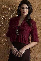 Ravelry: Pasha shawl collar cardigan pattern by Sylvia Raider