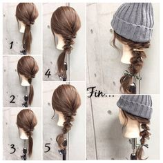 Hairstyles For School Videos Shoulder Length Beanie Hairstyles, Cool Hairstyles, Medium Hair Styles, Short Hair Styles, Edgy Short Hair, Hair Arrange, Shoulder Length Hair, Hairstyles For School, Hair Designs