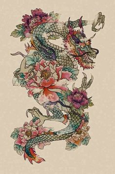 Chinese dragons (loong) are considered to represent strength and power. While Western dragons are associated with fire and aggressiveness, Eastern dragons are more benevolent, often associated with fertility, water, and weather. They can also be depicted as a creature constructed of many other animal parts - often with a snake-like body, fins of a fish, etc.